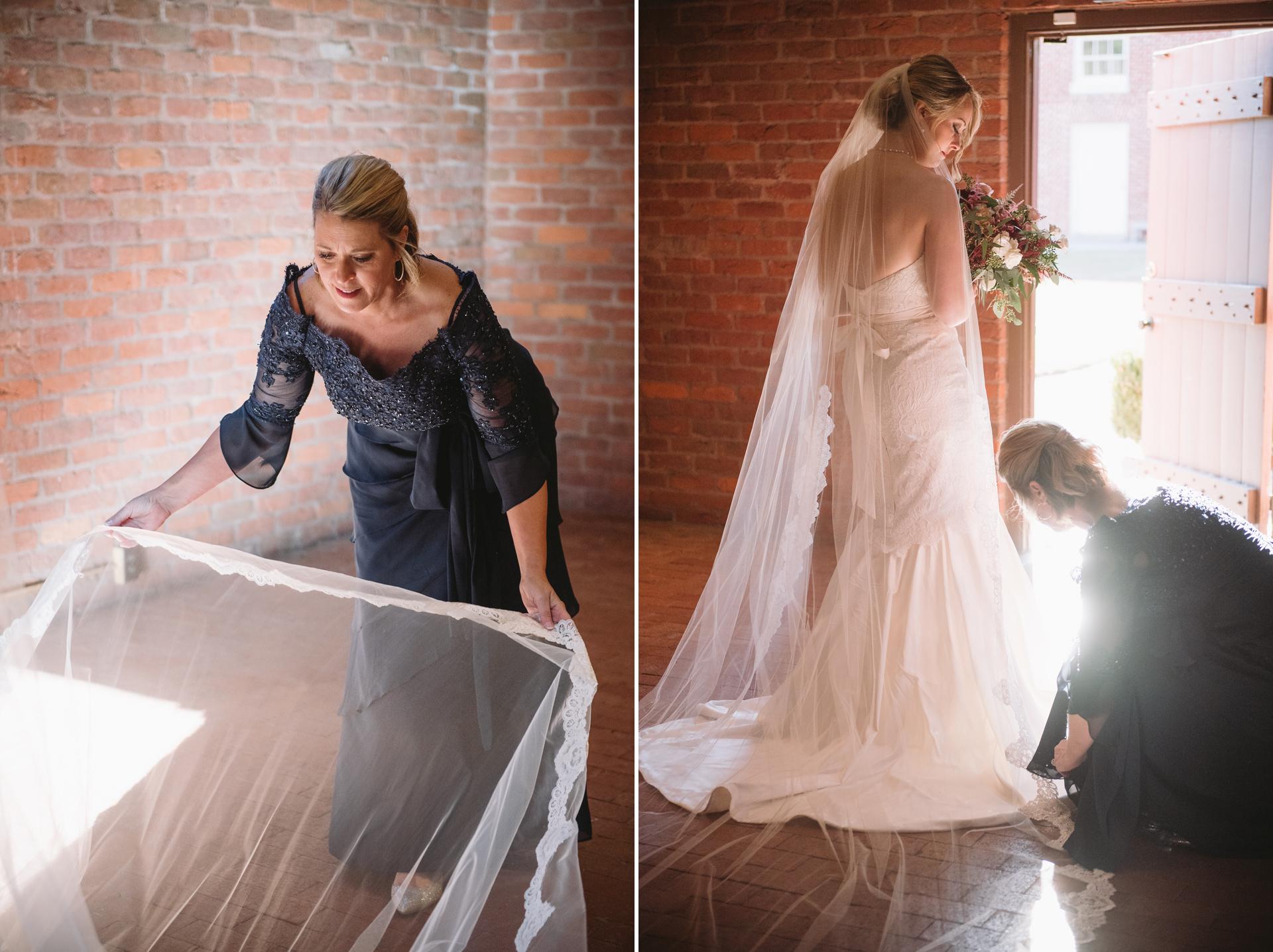 preparing for wedding ceremony