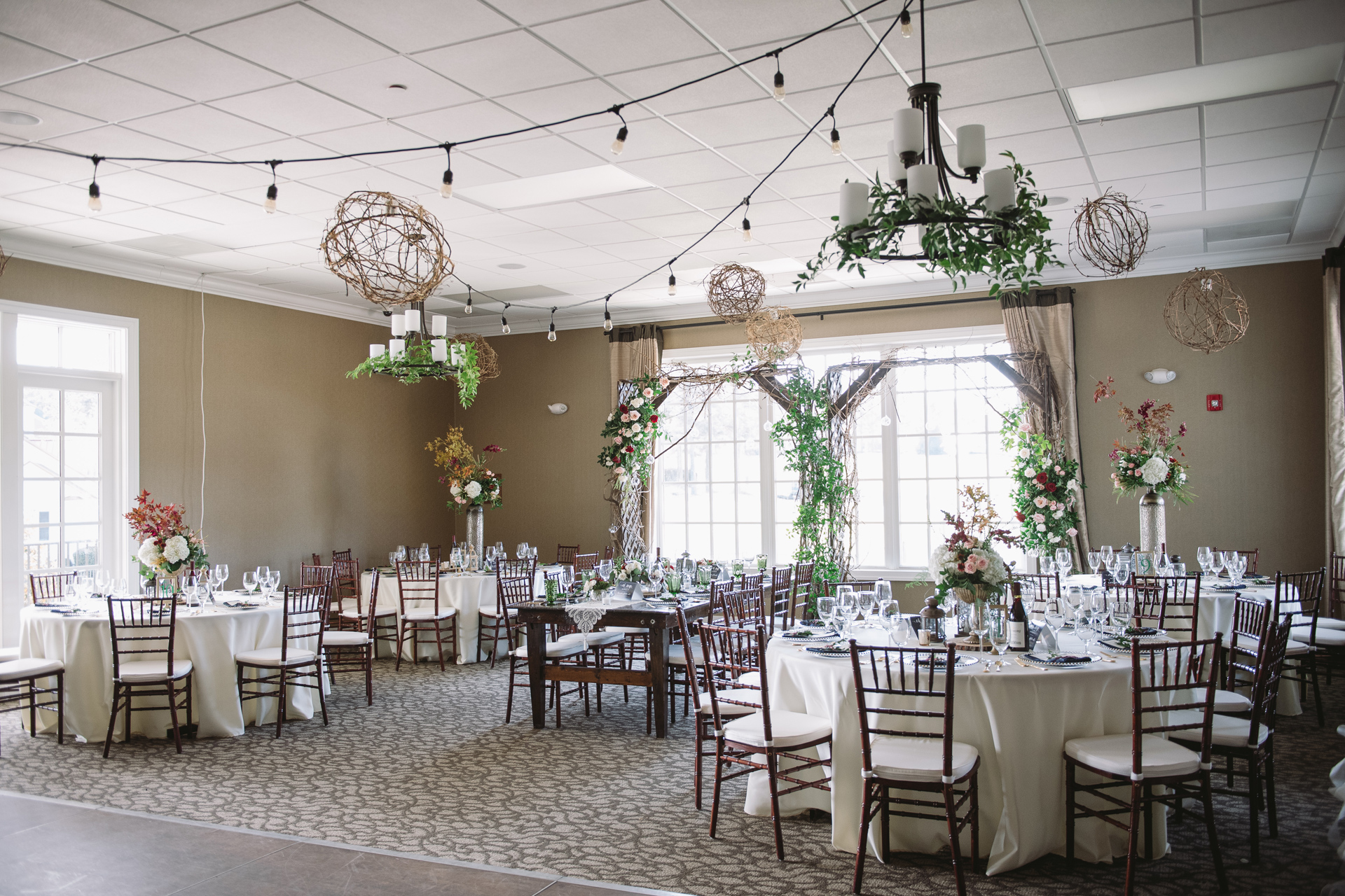cobblestone park wedding reception