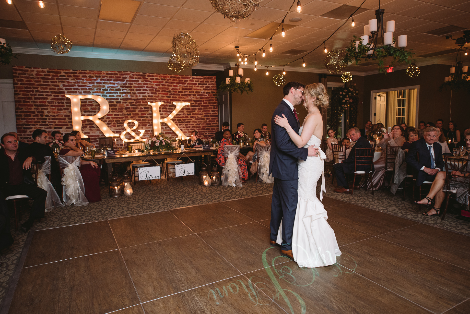 first dance cobblestone park wedding