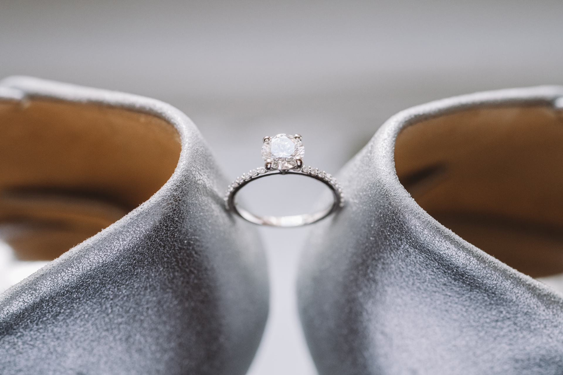 wedding ring on shoes