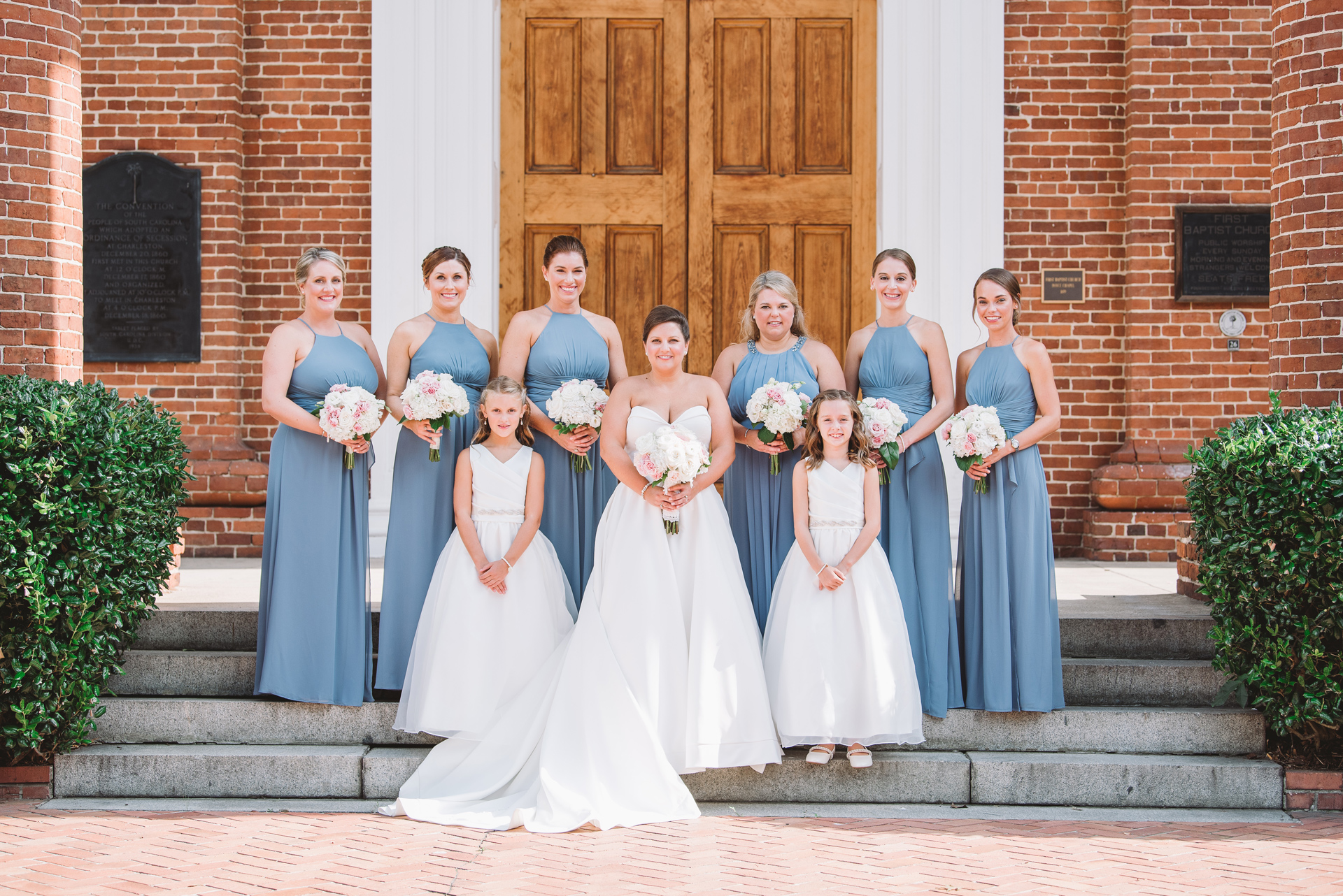 bride and bridesmaids boyce chapel