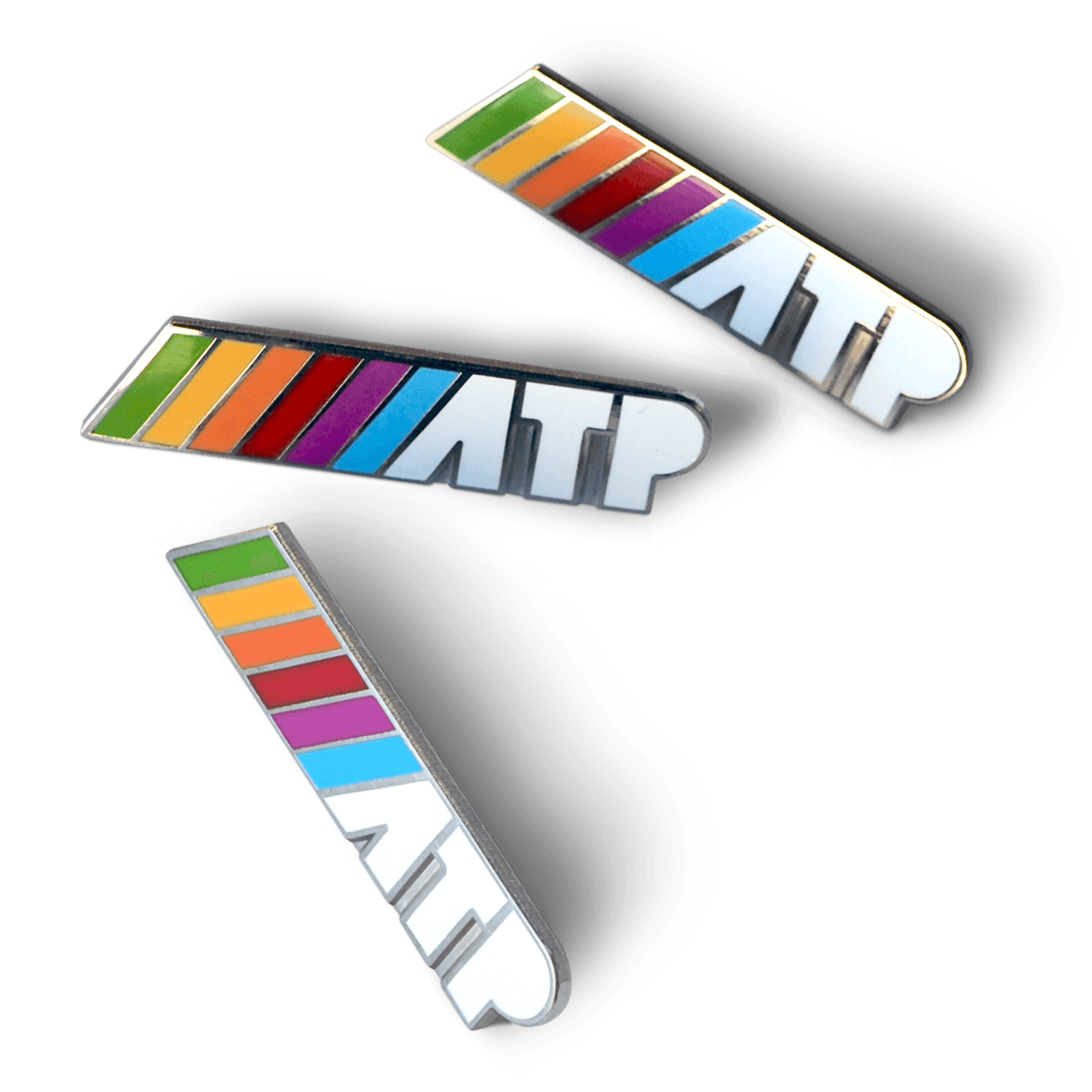 Enamel Pins - High-quality metal and enamel pins, custom-made for ATP, showing off the glorious rainbow logo.These are in stock now in limited quantities. Once they're gone, they're gone… at least for now.As a bonus, now all ATP pins include a locking back, so your Tom Bihn bag won't have any fallen soldiers.Buy now!