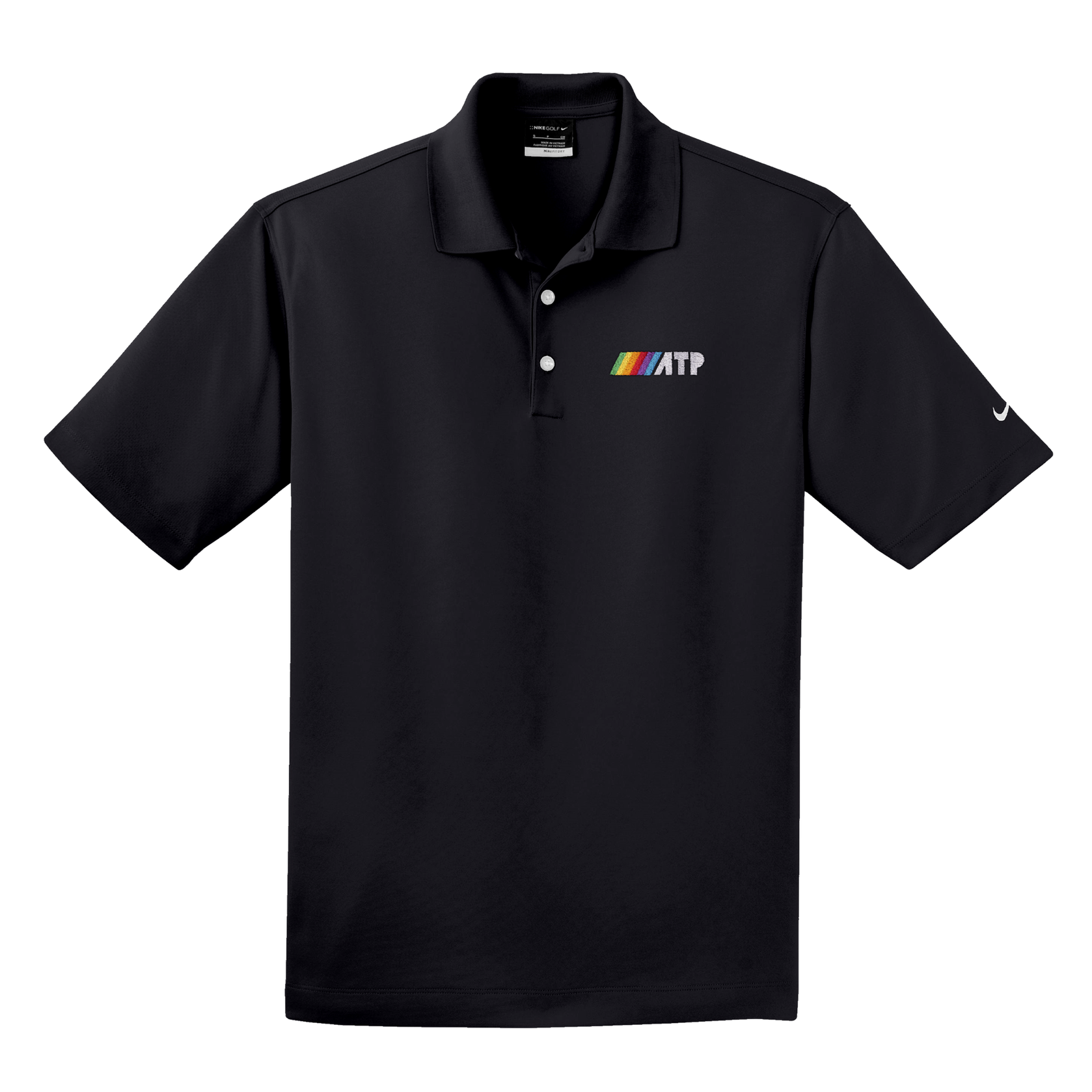 ///ATP Polo - This embroidered polo shirt is the most fancy piece of ATP clothing we sell. (The bar is low.)Available in black in polyester.Buy now!