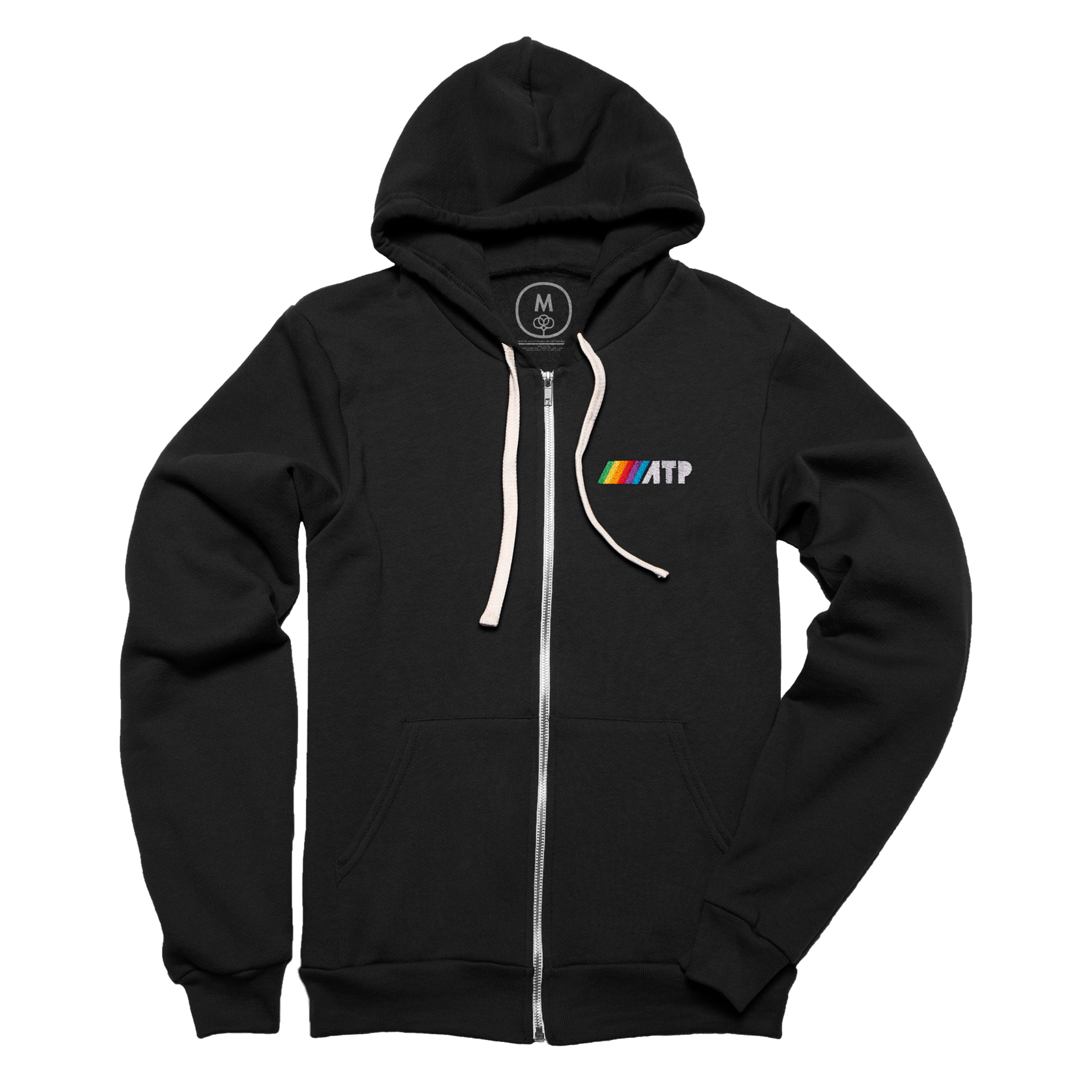 ///ATP Hoodie - A comfy, stylish, zippered hoodie with the classic embroidered ATP logo.Available in black in tri-blend.Buy now!