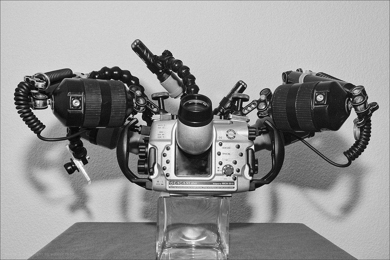 | setup | macro | back  | seacam sportfinder 45 | inon mega float arms m | subtronic stobe cable