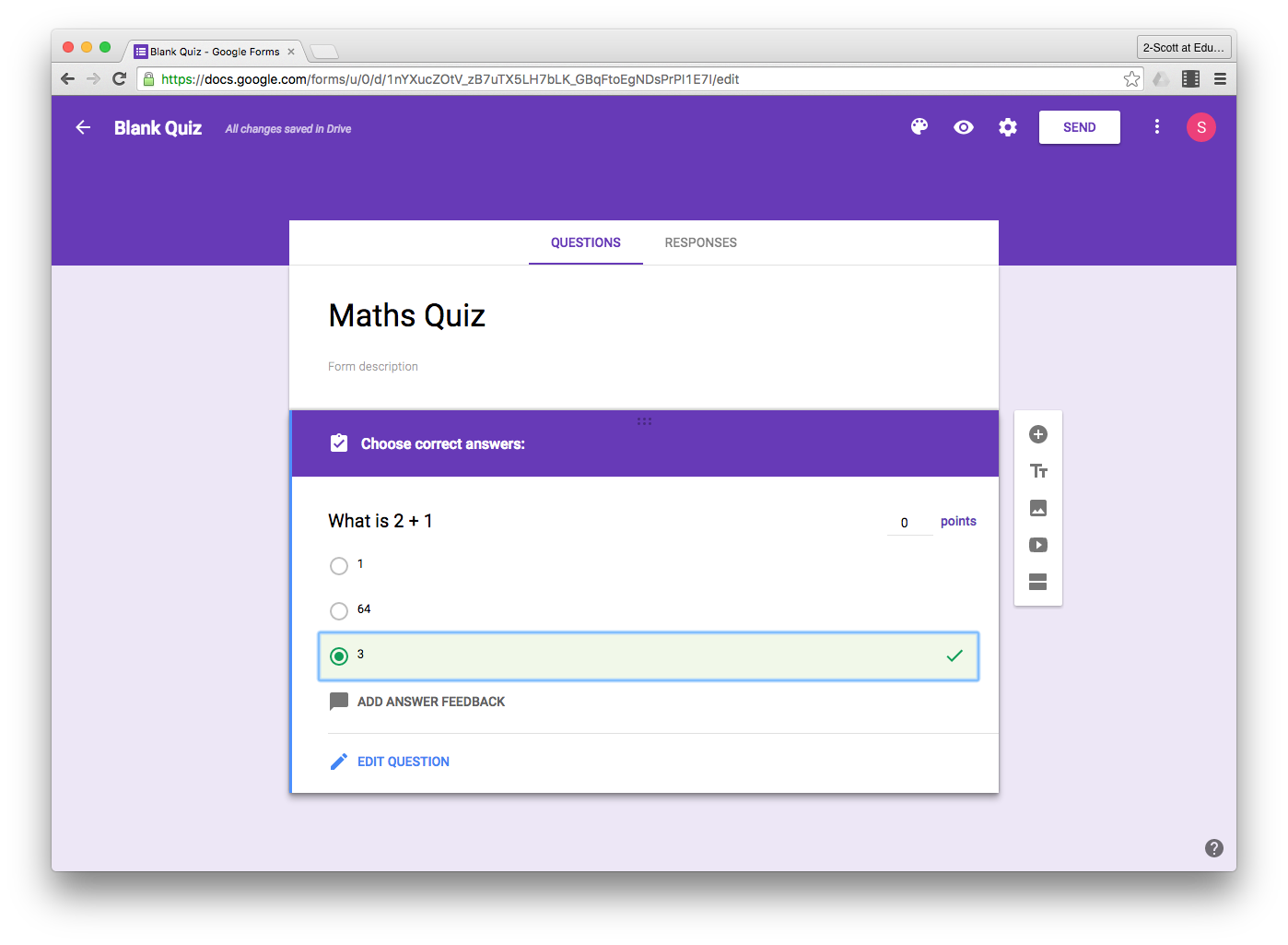 Google Forms Quizzes
