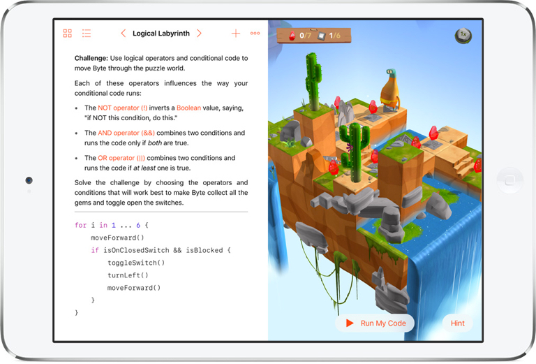 Swift Playgrounds Lesson