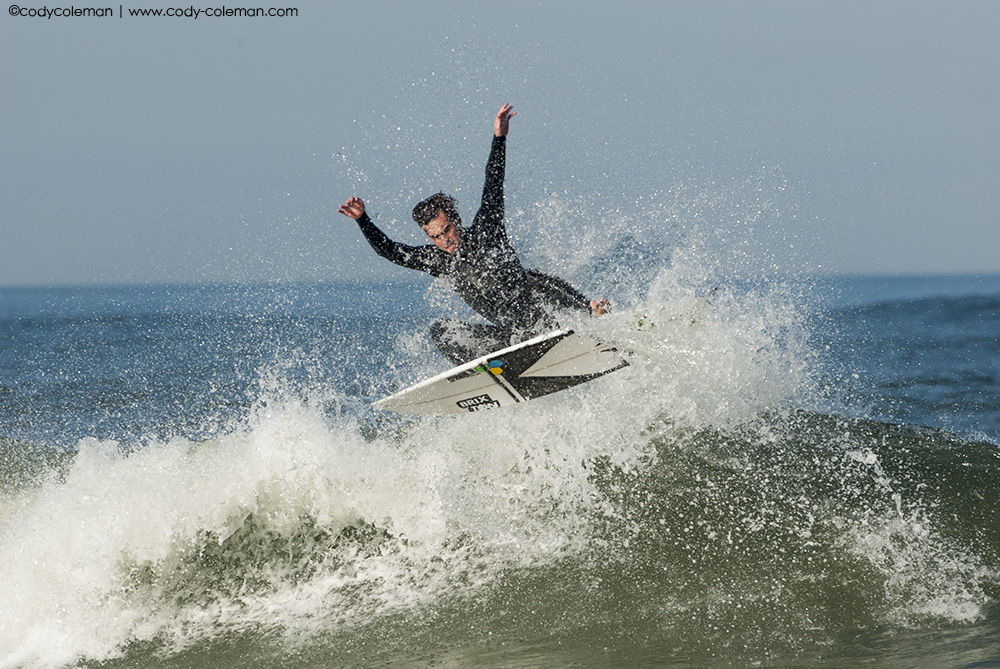 Seth going against the off shore wind.