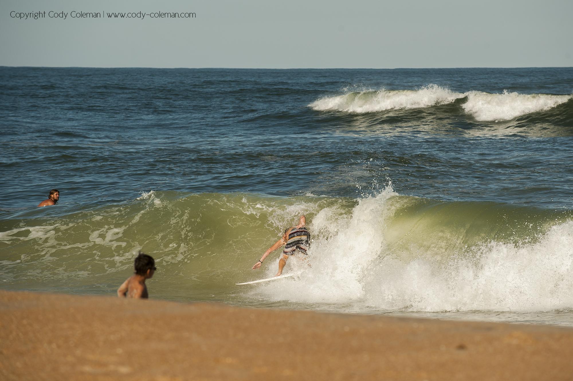 Andrew Gregorie pulling into Vilano beach shore pound .