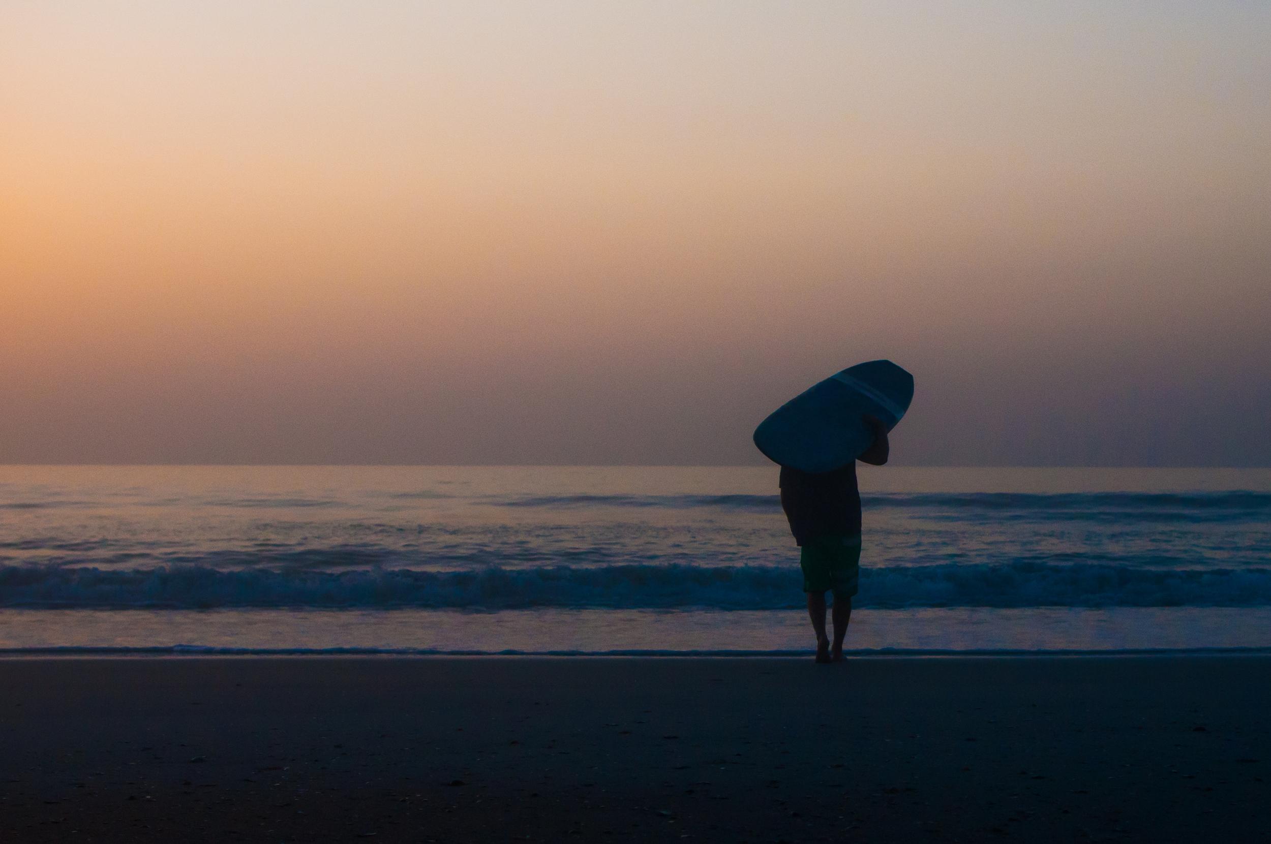 Walking down beach | 6:20am