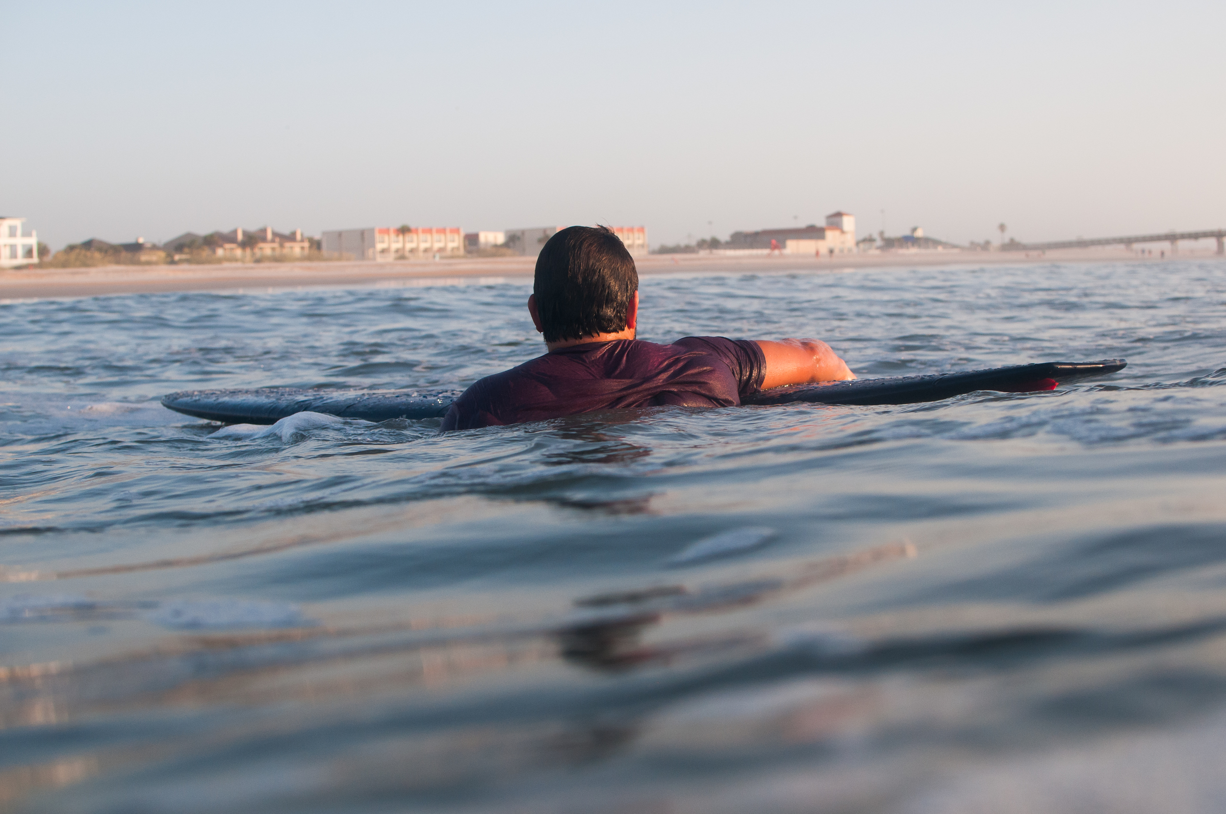 Hope you guys enjoyed that little series with Chris & I . Above is Chris swimming in after his last wave of the morning.