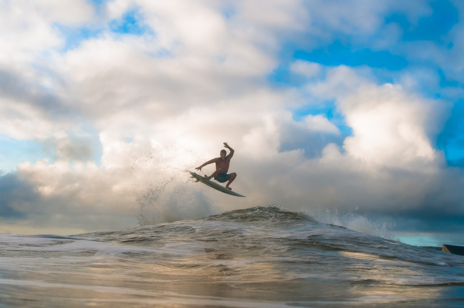 Gabe Kling in the clouds.
