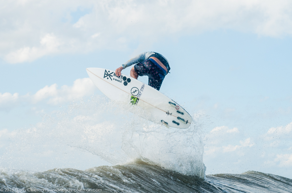 The groms cant see him surfing if he's not in the air. haha