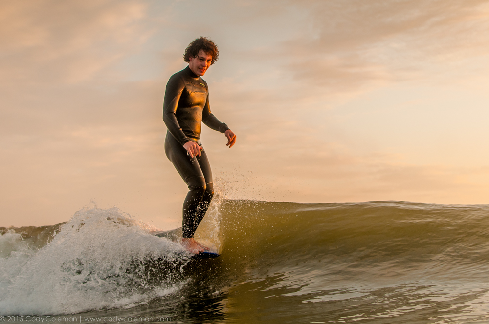 Josh sliding straight to an 8:00am shift at the Surf Station.  Thanks for checking out the gallery | Questions? | Email me at codycoleman@ccolemanphotography.com