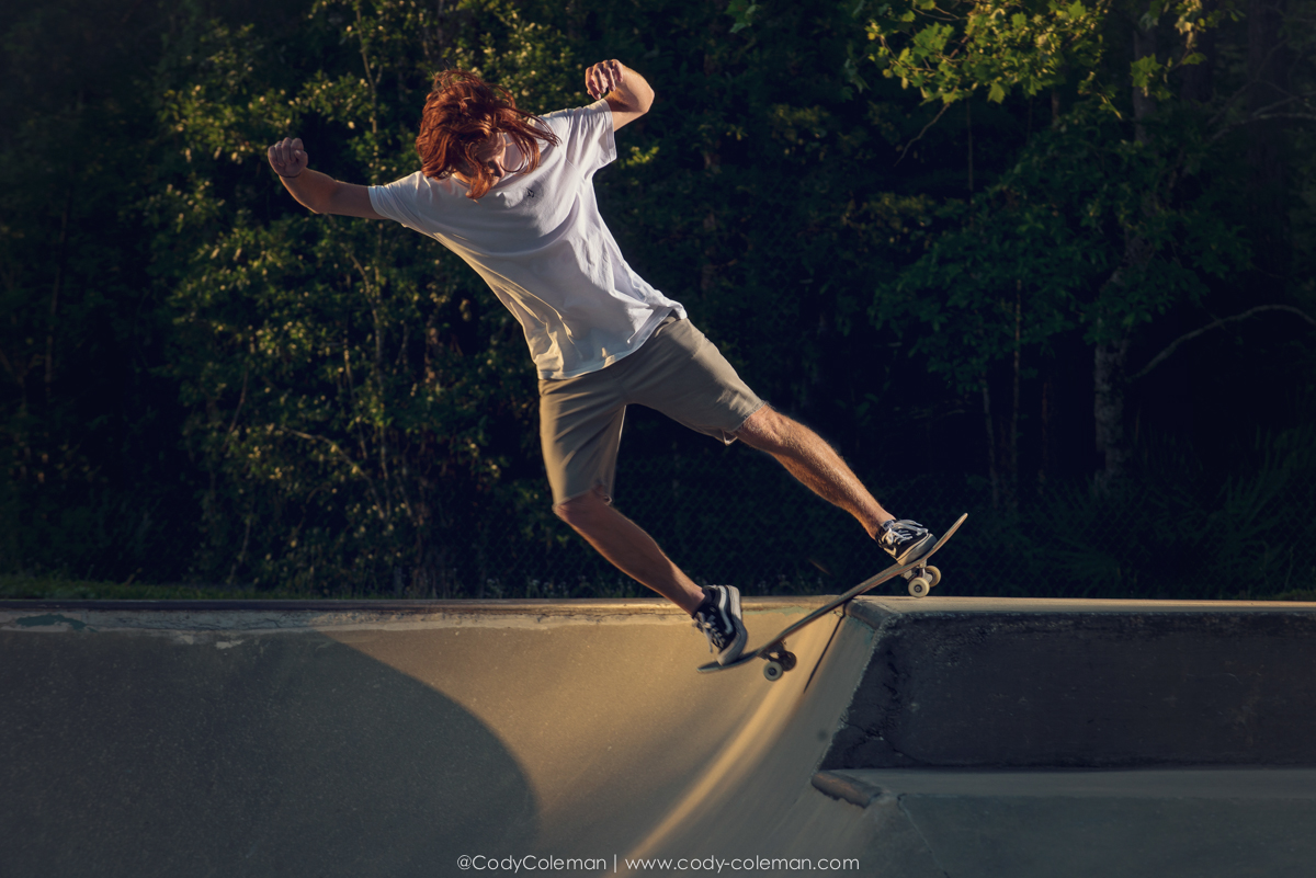 Just after the sun broke the horizon it began lighting up sections of the ramp, so we took full advantage.