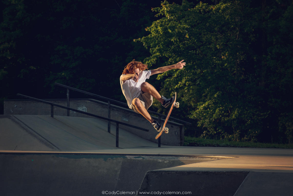 This was my first time shooting skateboarding early in the morning I really enjoyed the challenge of the constant change of light.