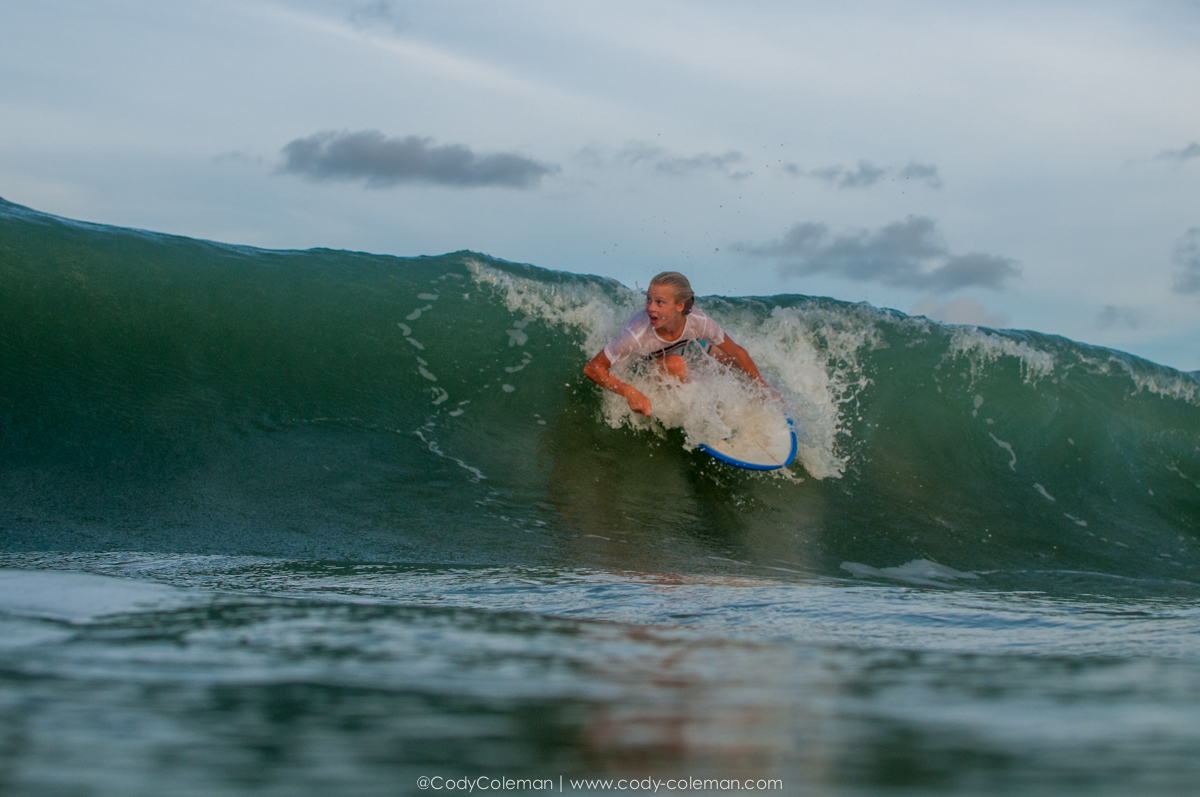 Especially when waves like this just kept coming in...