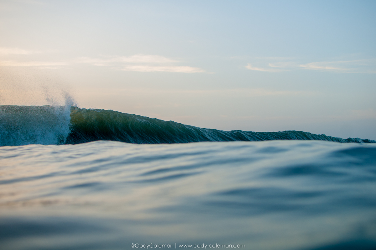 This was the first image I took on Wednesday morning on my swim out. A beautiful empty left...