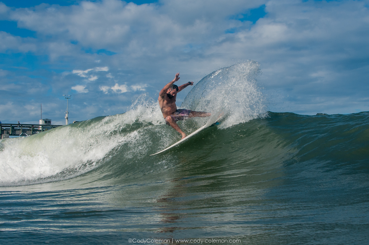 A perfect St. Augustine Pier left... Matt Wetmore in the right place at the right time.
