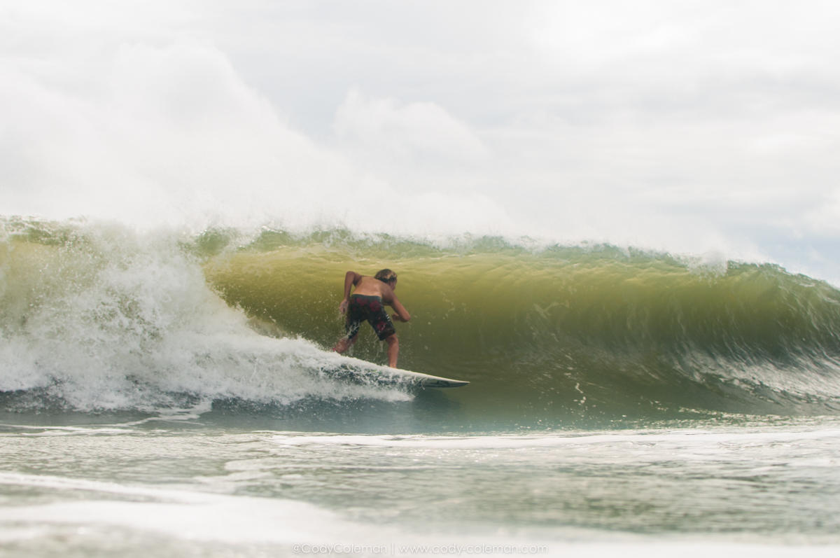 Evan Brownell scoring one of the better waves of the morning.