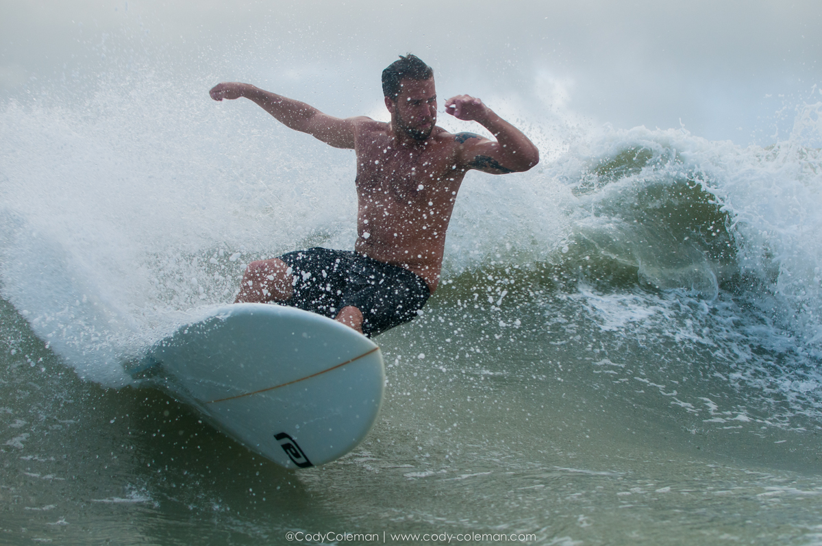 Ryan Turnbull in a stormy mess the other night!