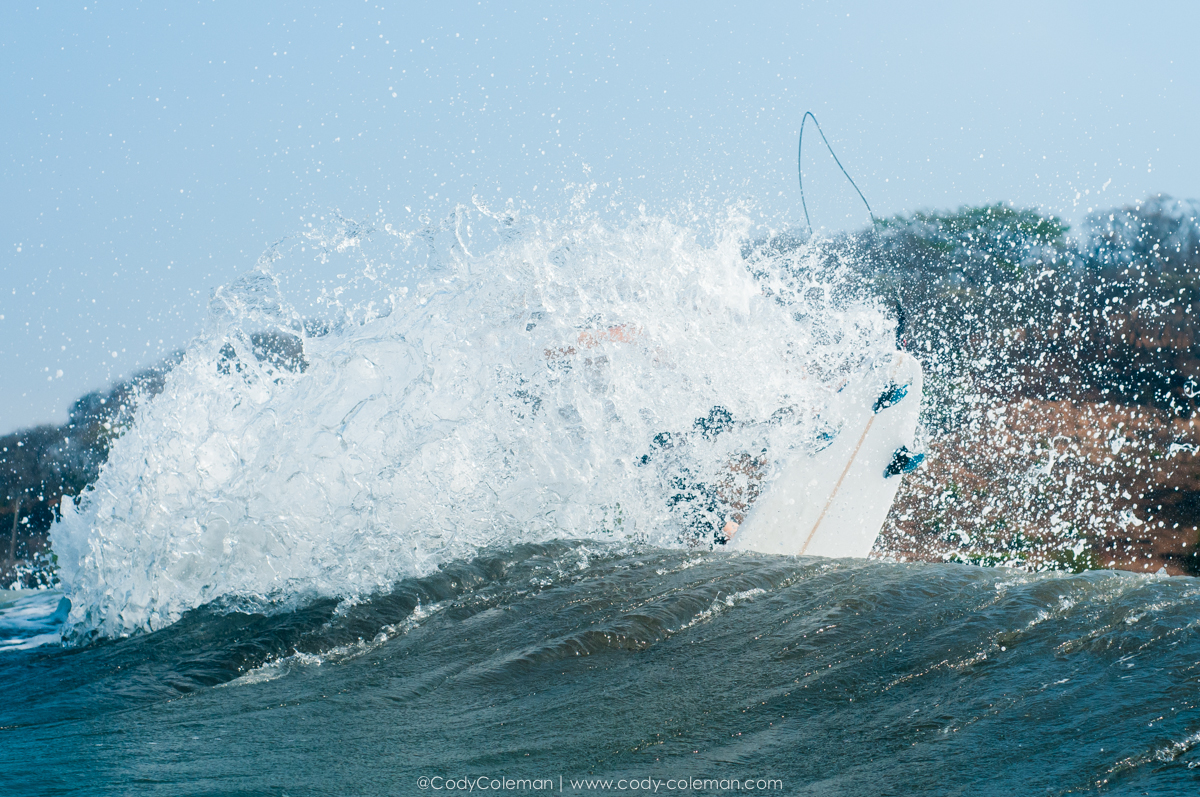 Mike Pimental tail drifting a closeout section. This was warm-ups for a later wave we linked up on...