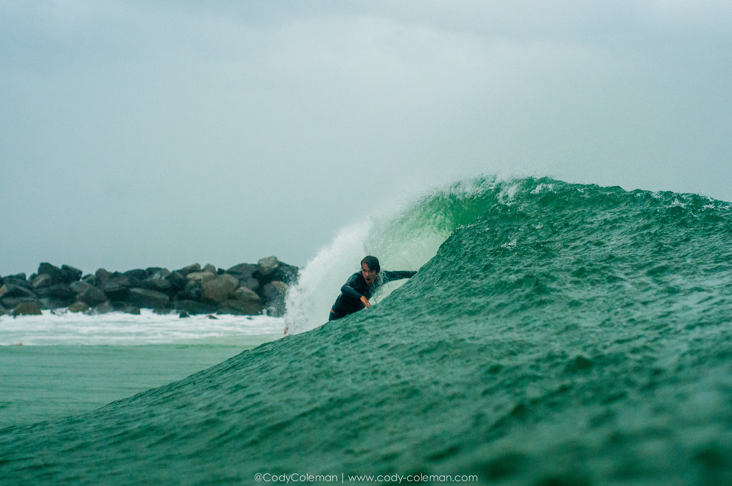 Alec's first wave of the session.