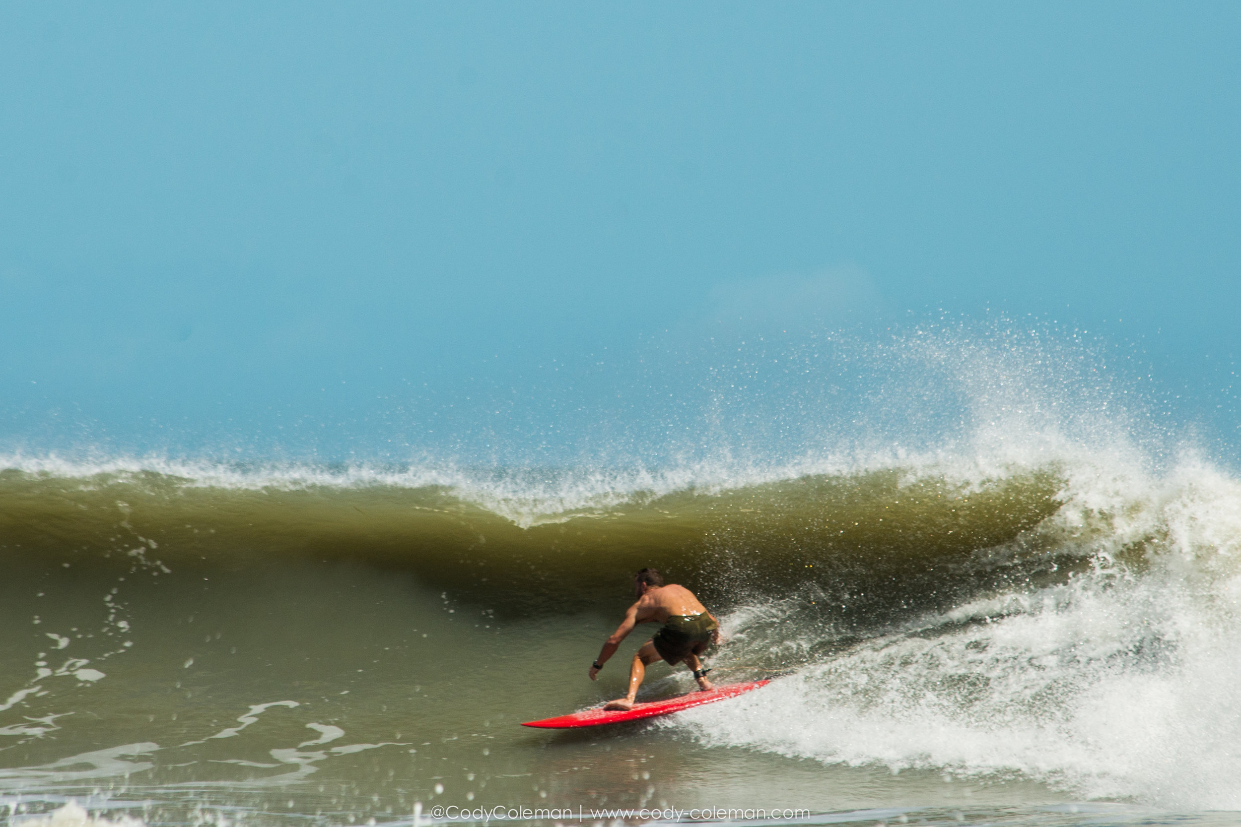Eric Hires on his single fin absolutly charging.