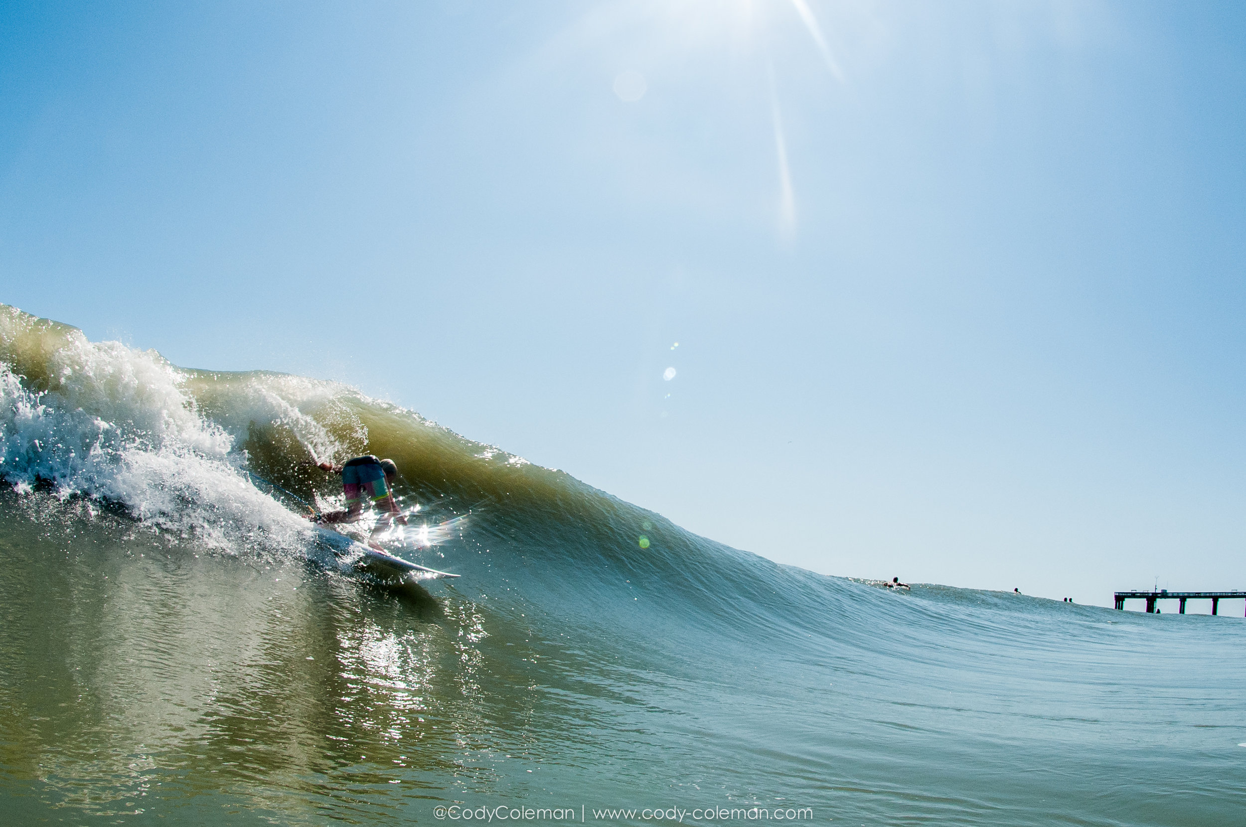 Benji Lang about to pull into one of the better barrels he is gonna get for quite sometime here in Oldest City.