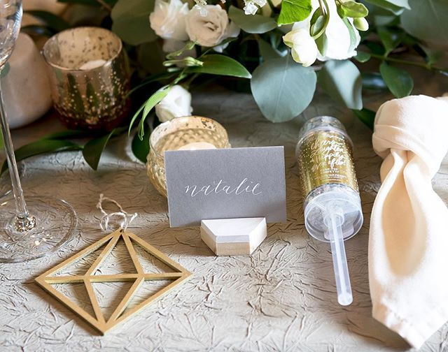 ✨ Pretty photo shoot for @corkfactoryhotel and their perfect Modern Bride ✨ . . . Gorgeous everything via these talented people: @corkcollection @laurenfisherphotography @theconfettihome @envystudio @finchjewelers @petalswithstyle @poshbridallanc @shumakerpdt @specialoccasions @treasured.events #moderncalligraphy #calligraphy #wedding #weddingcalligraphy #modernbride