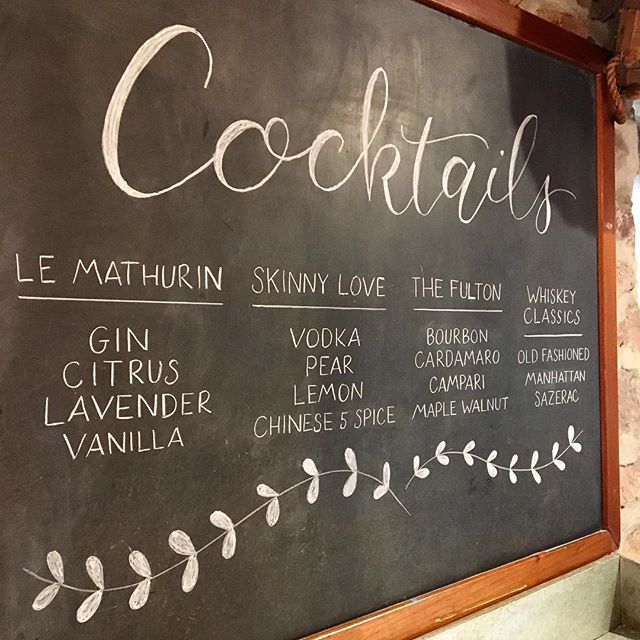 When the groom is also a bartender, you get some pretty amazing signature cocktails. 💕🍹💕🍸💕 Congrats Liz + Ben! . . . . . #calligraphy #moderncalligraphy #cocktails #chalkboard #chalkboardlettering #chalklettering #wedding #weddingcalligraphy