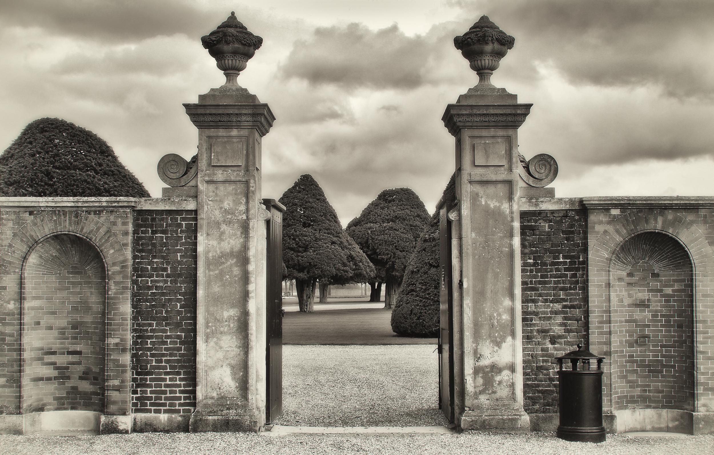 The Garden Gate   Hampton Court, England