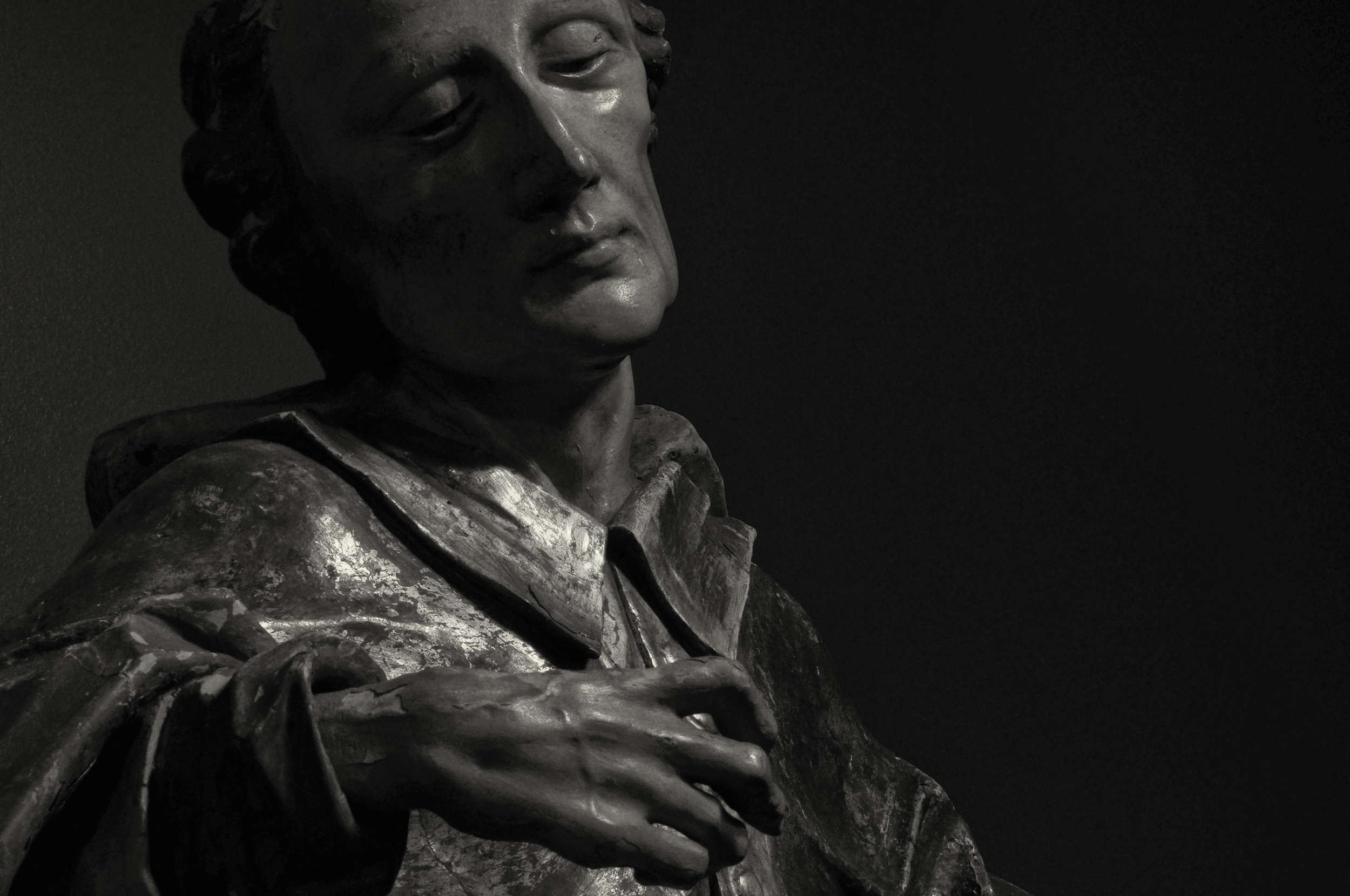 Saint Nepomuk   Wood Carving,17th century, Yager Museum