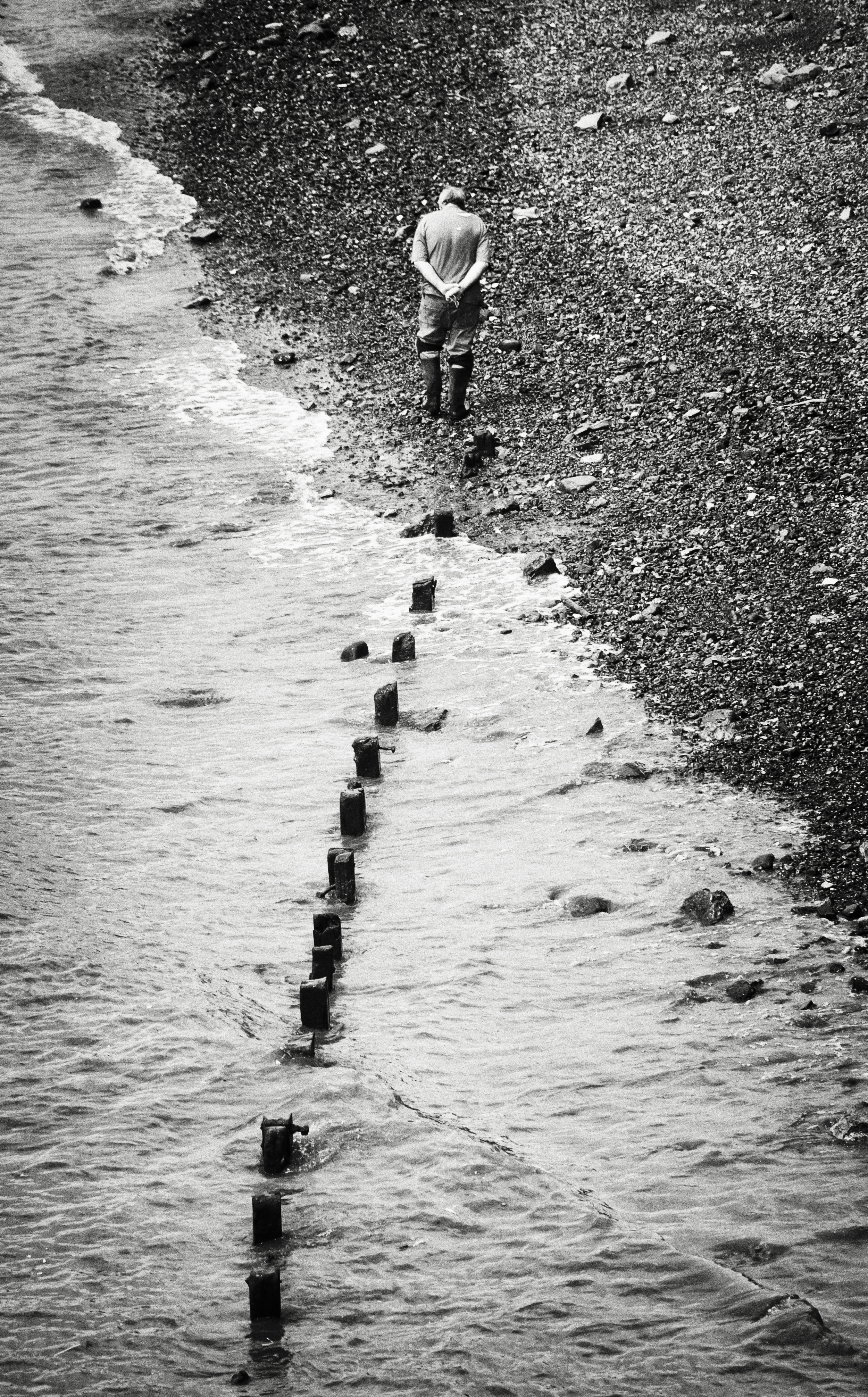 Mudlark   Walking the Thames at low tide, near the Tower of London