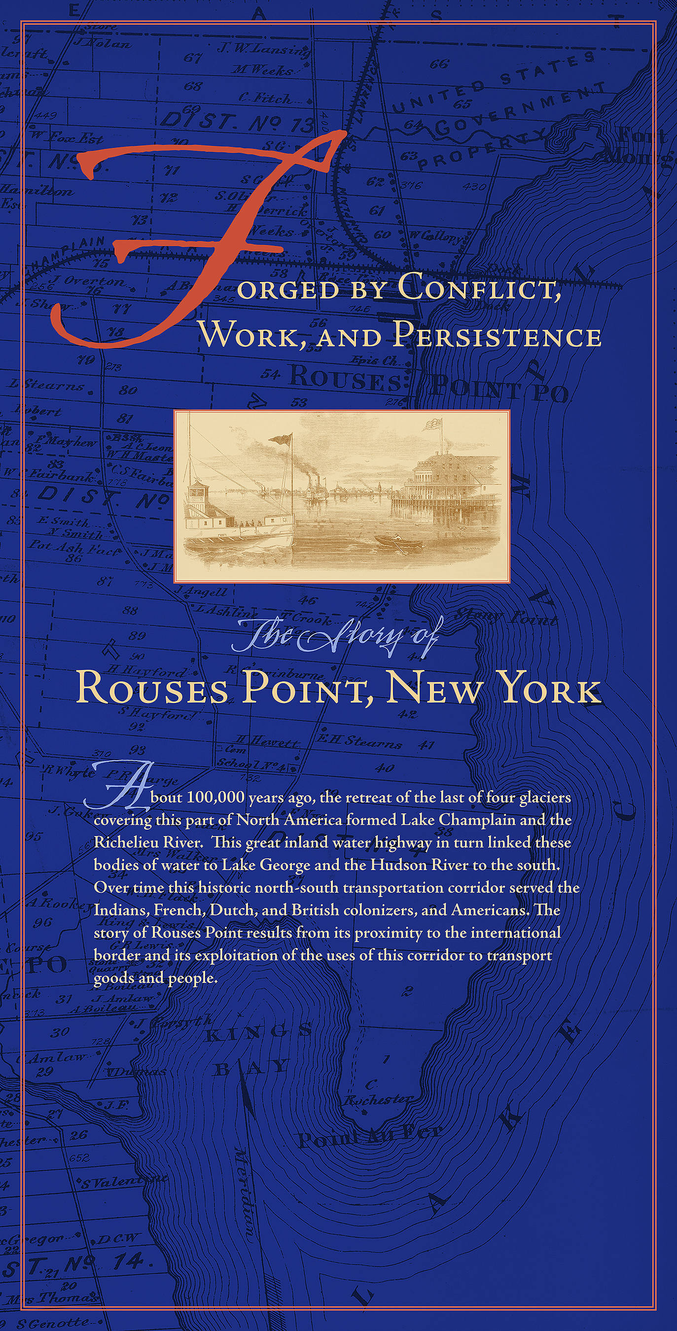 Banner for Rouses Point Visitor Center   Rouses Point, N.Y.