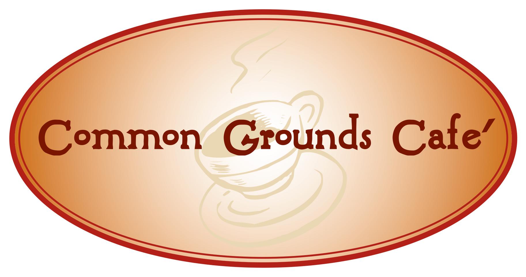 """""""Common Grounds"""" logo   Cazenovia, N.Y."""