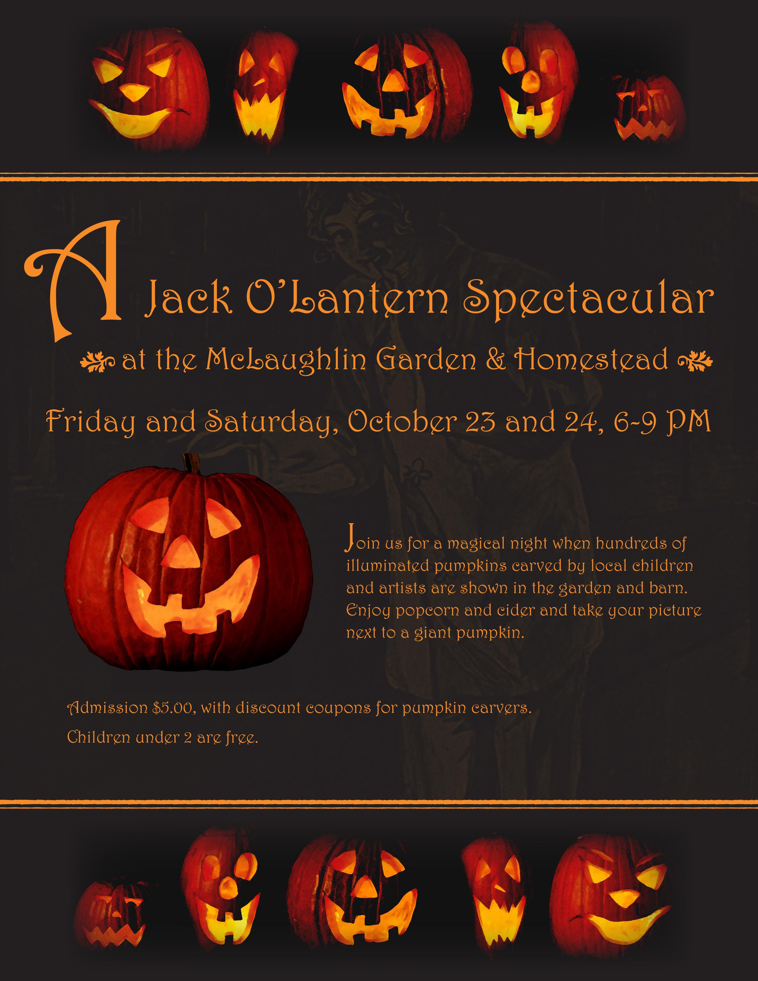 Event poster for McLaughlin Gardens   South Paris, Maine