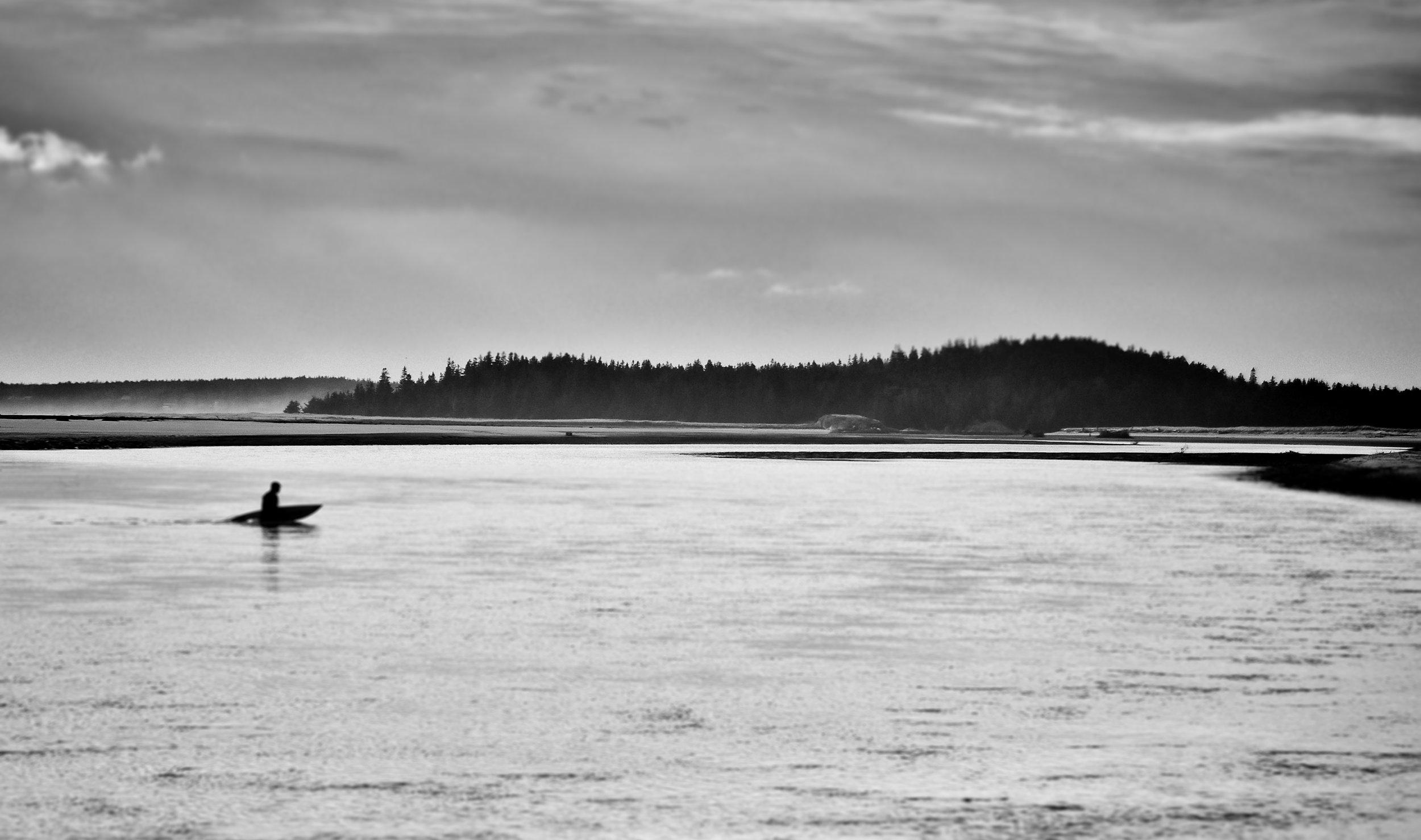 Popham Surfer   Popham Beach, Maine