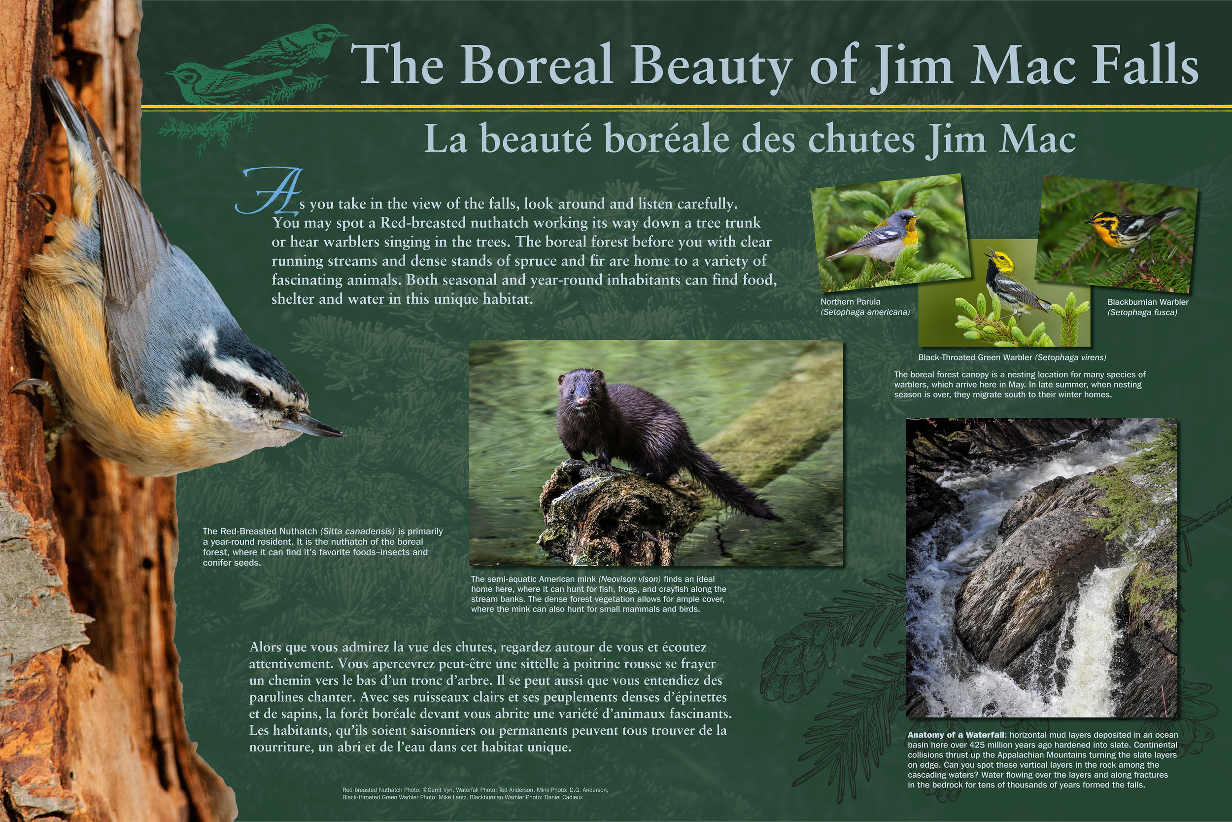 Outdoor Interpretive Panel for Maine D.O.T.   Old Canada Road Scenic Byway