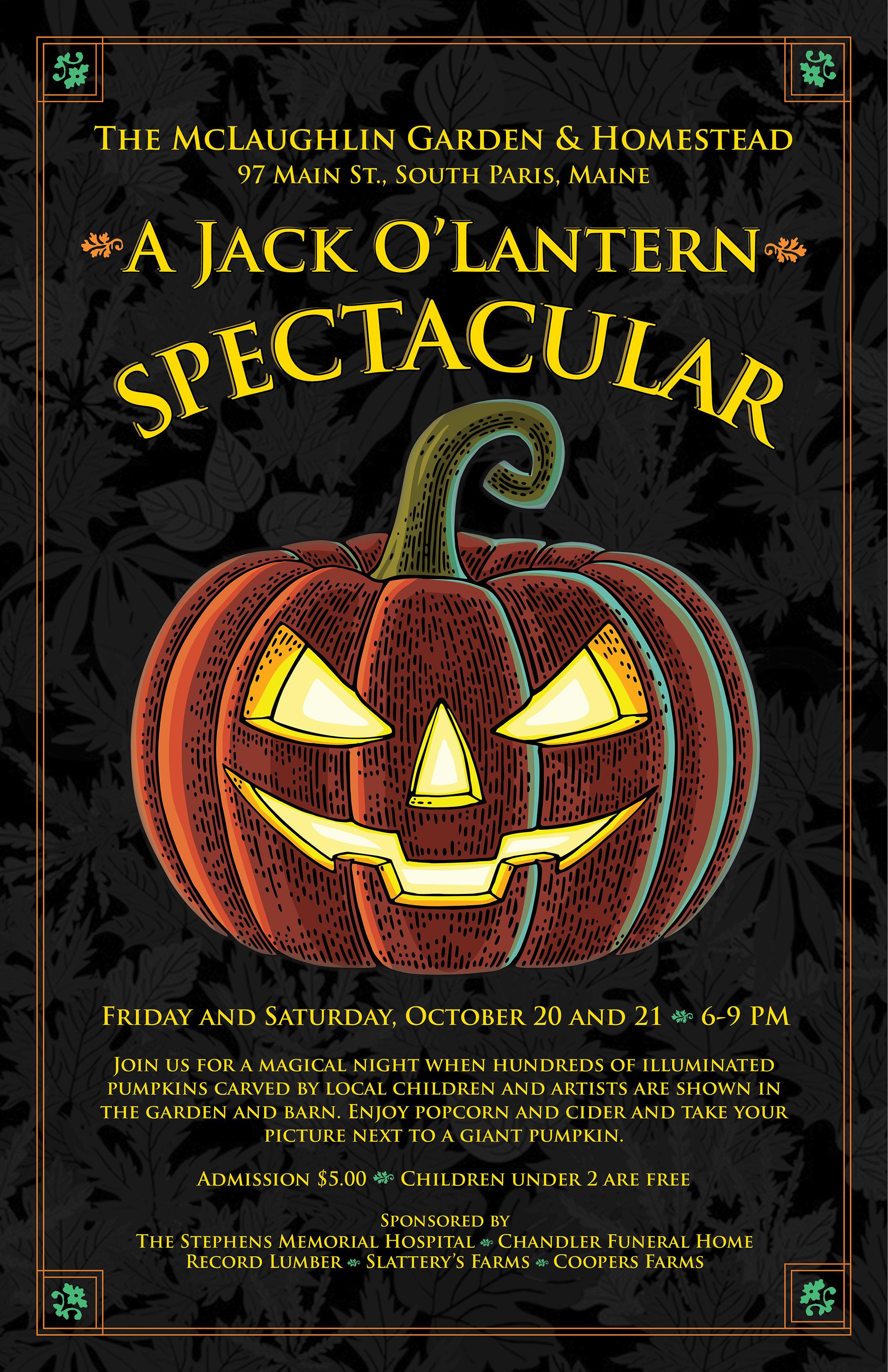 Event poster for McLaughlin Garden & Homestead   South Paris, Maine