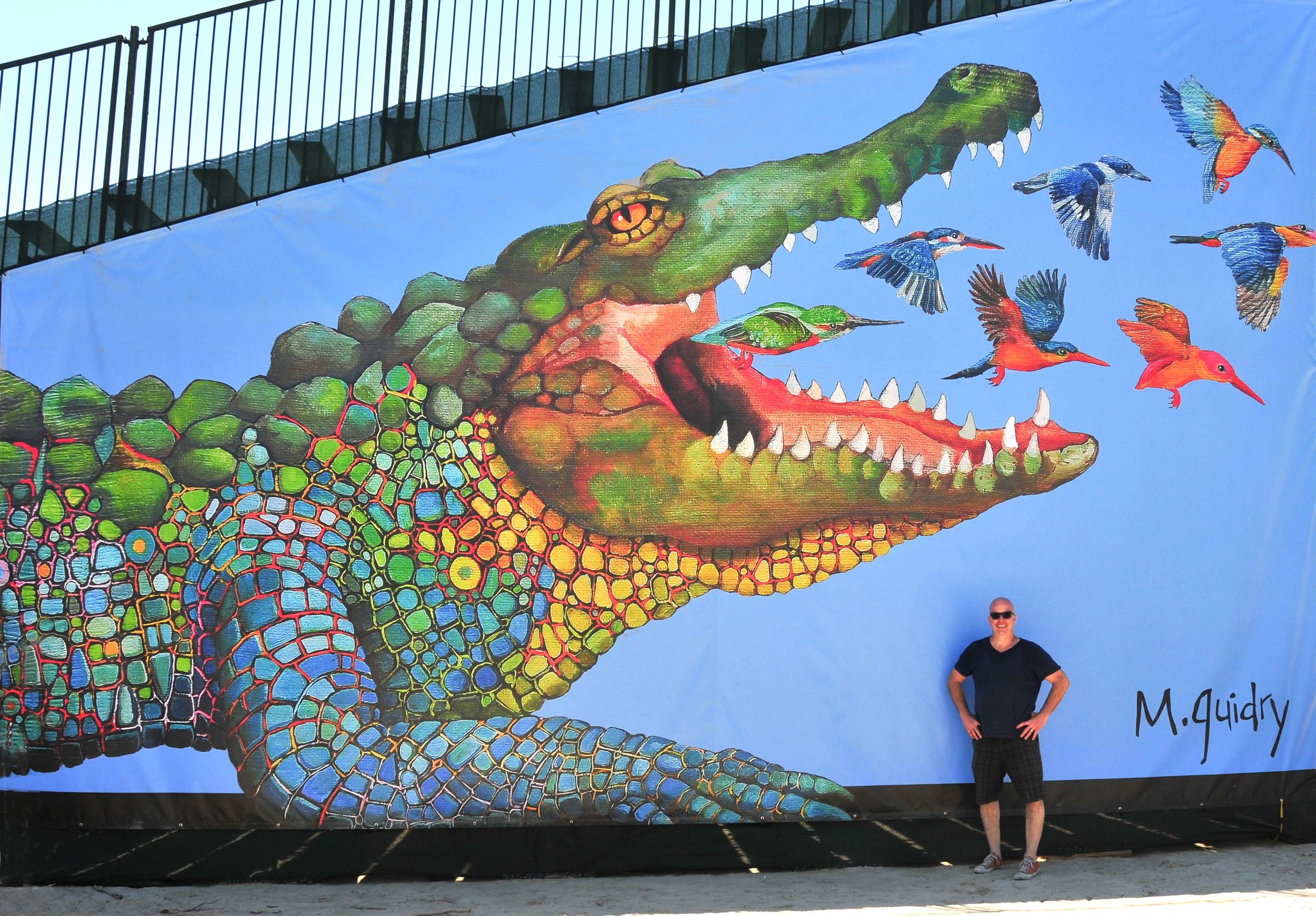 m-guidry-michael-new-orleans-louisiana-artist-alligator-jazzfest-jazz-fest-jazz-and-heritage-festival-art-artist-painting-alligatort-birds-bleacher.jpg