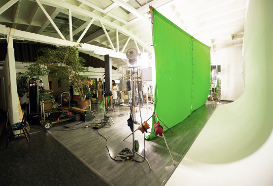 Our green screen studio, in San Francisco.