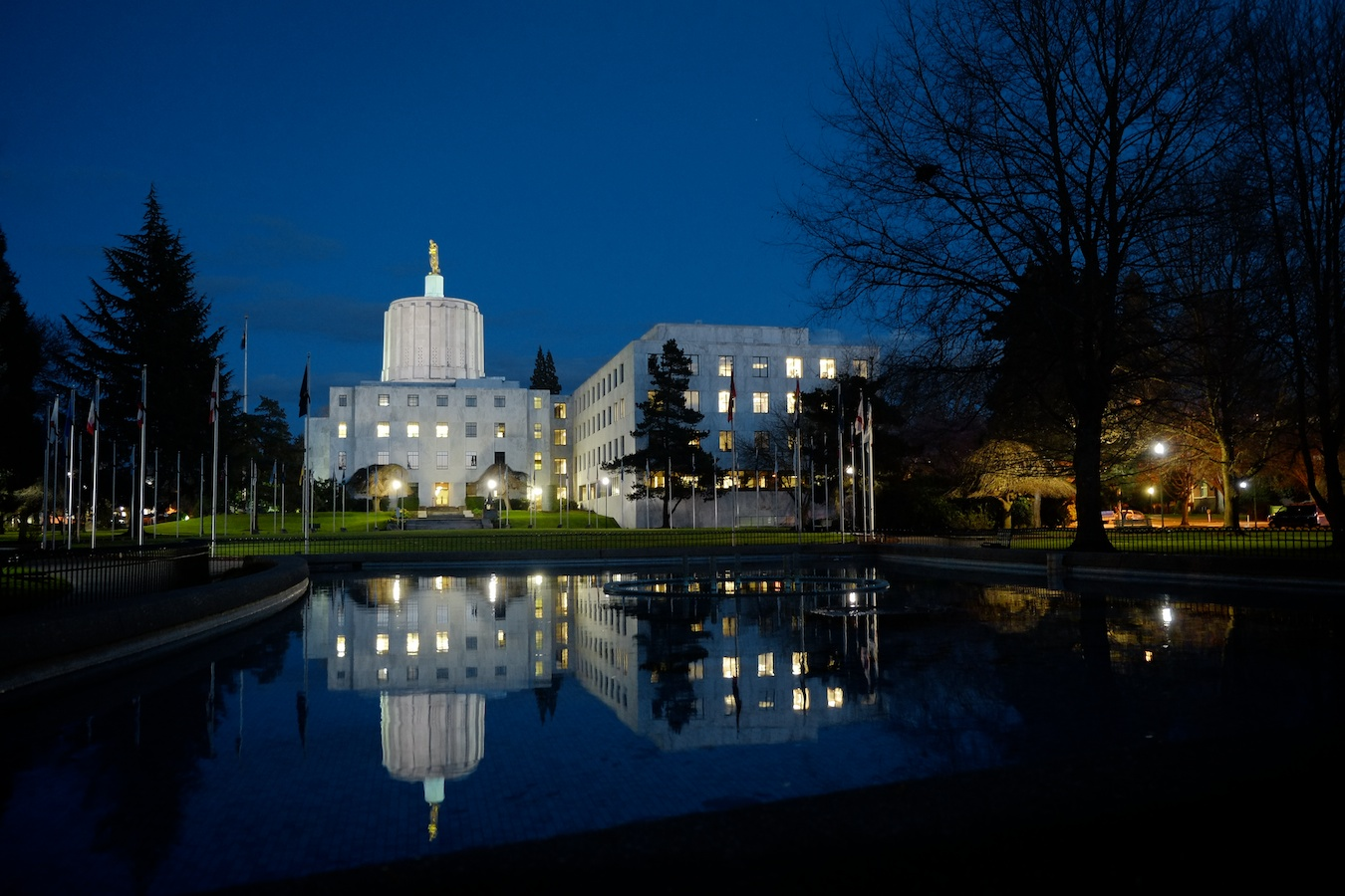 Oregon Capitol Building at Dusk. Fuji X-E1. 18-55mm.