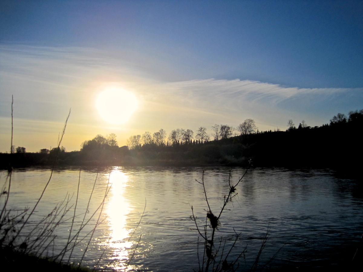 Sunset over Willamette, by Miriam
