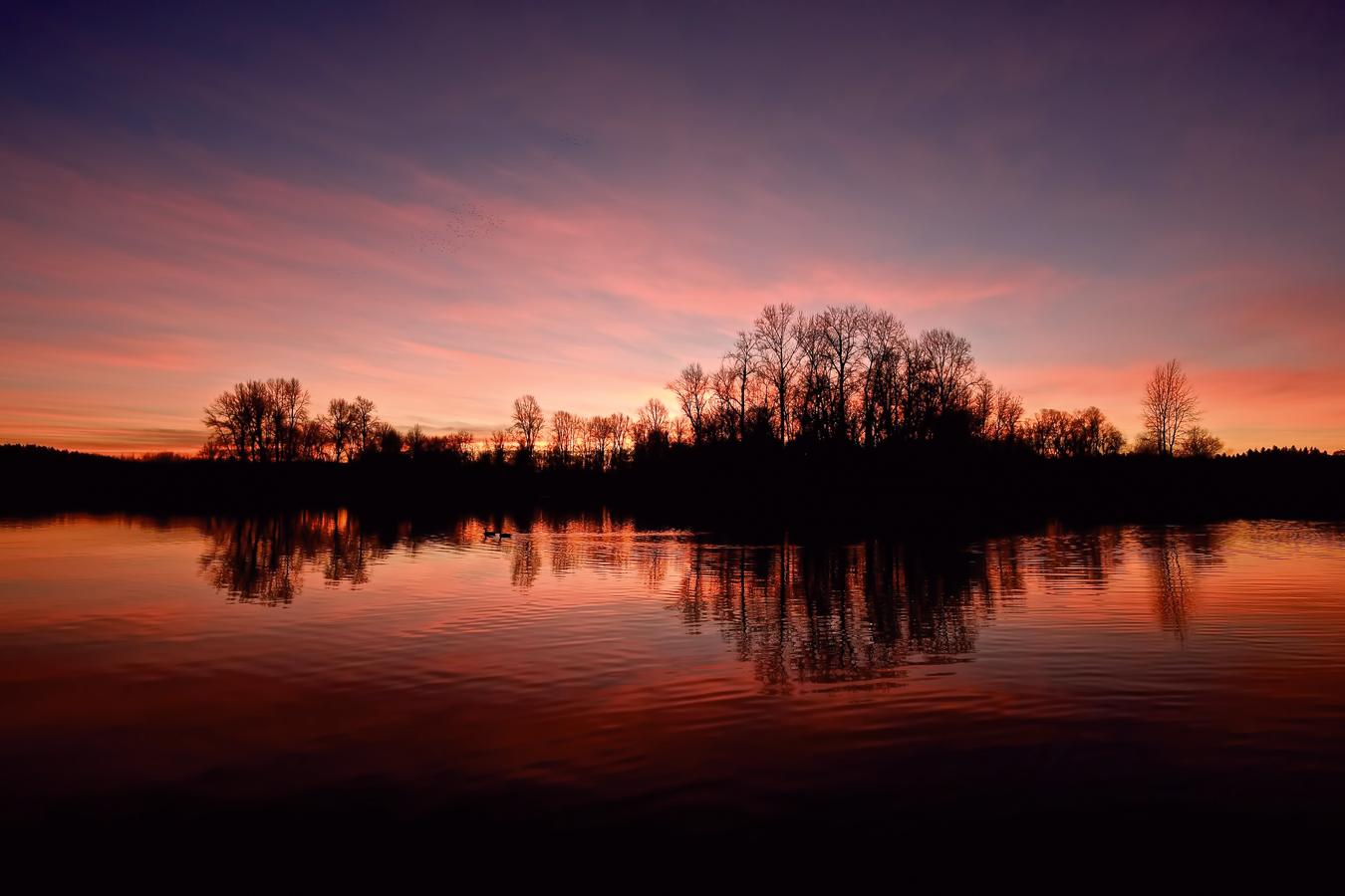 Willamette Sunset, Salem, Oregon