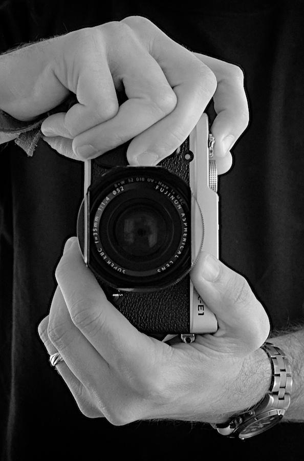 Fuji Selfie. Fujifilm X-E1, XF35mm f/1.4 @ f/8, 1/12, ISO 3200