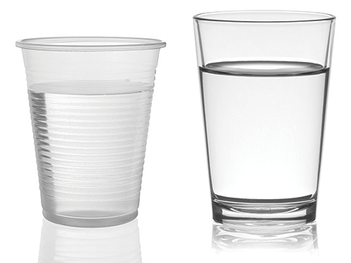 Image source , which is also a good article on the differences of glass and plastic