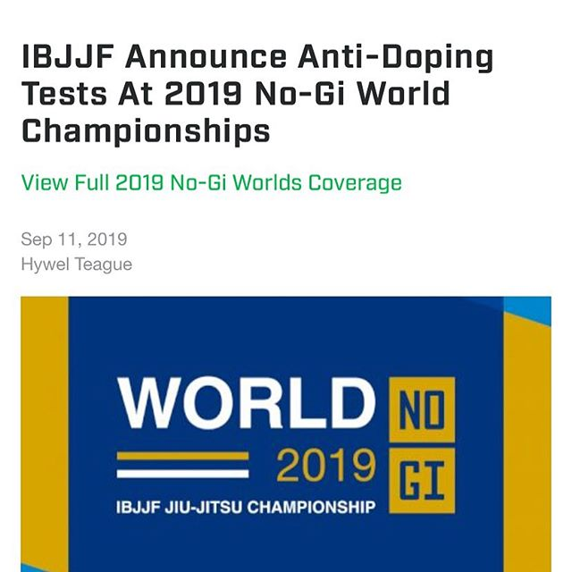 This isn't a steroids joke post, it's actually a useful bit of info if you compete in Jiu Jitsu.  PSA — if you're looking to compete in No Gi Worlds this year: don't take garbage supplements or something you bought from an Instagram ad. You should even be careful when you buy supplements from Amazon, as there's been a few reported cases of resellers selling what was said to be reputable brands, but was repackaged cheap stuff.  I've seen false positives in other sports I've been around and clearing your name with USADA in the case of a false positive test costs thousands, plus the suspension time often administered for you being negligent in taking a non-approved supplement. Don't let that be you.  What should you do for supplements? Don't take gas station creatine— instead look for NSF Certified Supplements or look on the USADA approved list. You may also look for Canadian producers of supplements and import them— as they have to pass more strict tests there. Don't listen to the guy at GNC, make sure it's on the USADA list or is NSF stamped.  I can answer any questions you have, just be smart and don't go through the embarrassing and expensive experience of false positives.  #bjj #jiujitsustrength #strengthandconditioning #ibjjf #usada