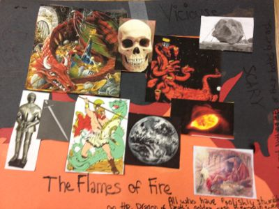 "The first poem was about a dragon who felt conflicted about being a ""fire breathing"" dragon."