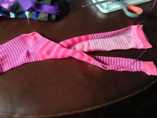 pink sock legs